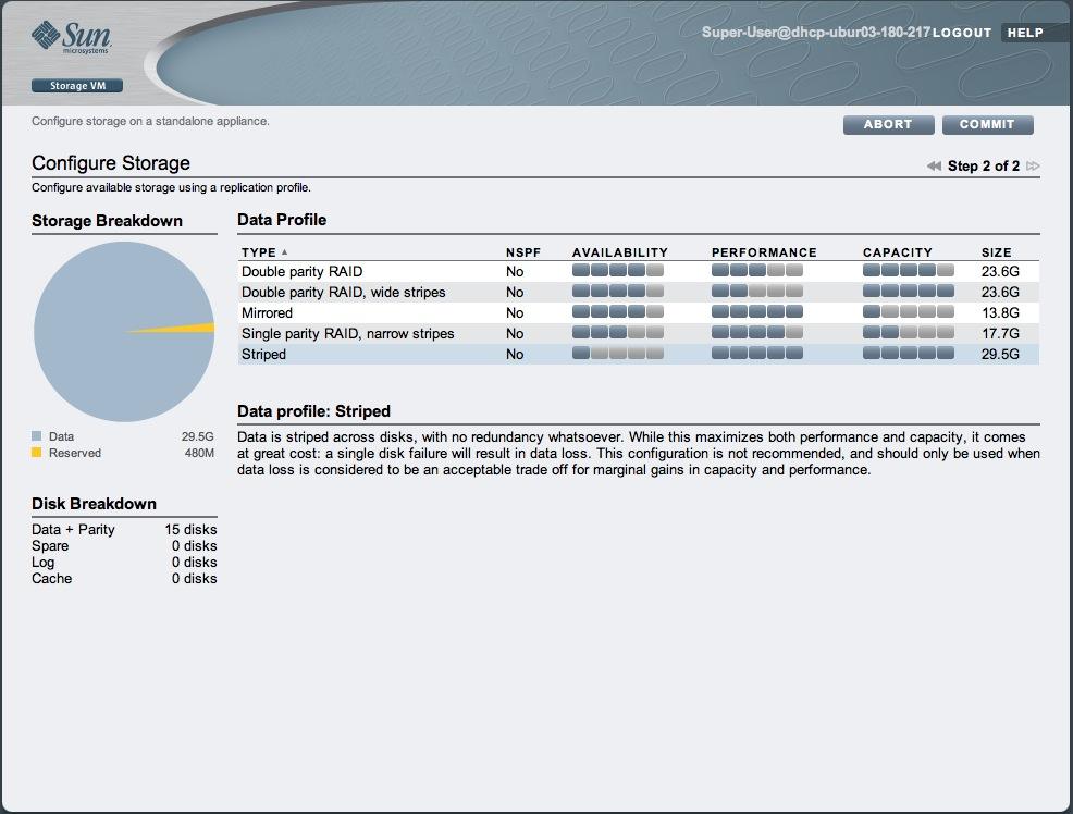 Sun Storage 7000 Unified Storage System simulator setup